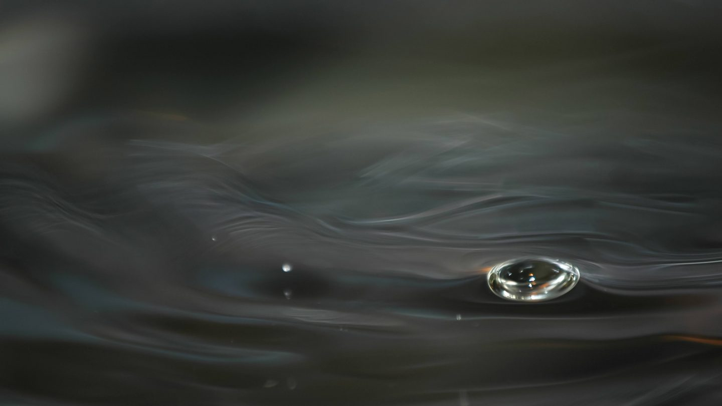 Abstract Flowing Water Effect and a Bubble