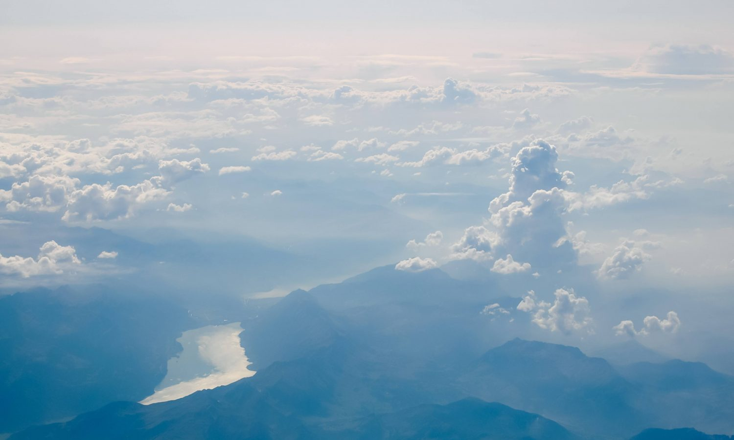 Aerial Sky and Mountains