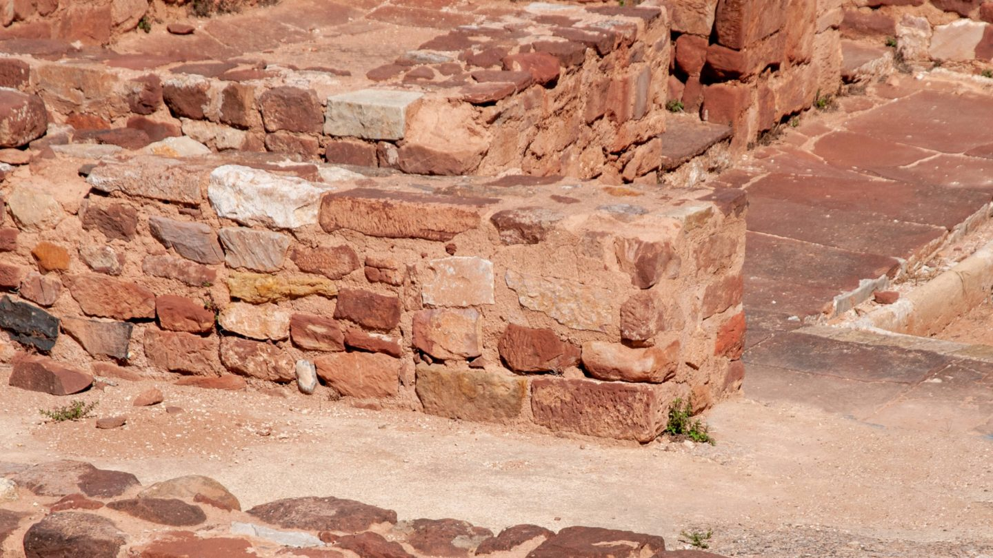 Ancient Red Rocks Castle Ruins