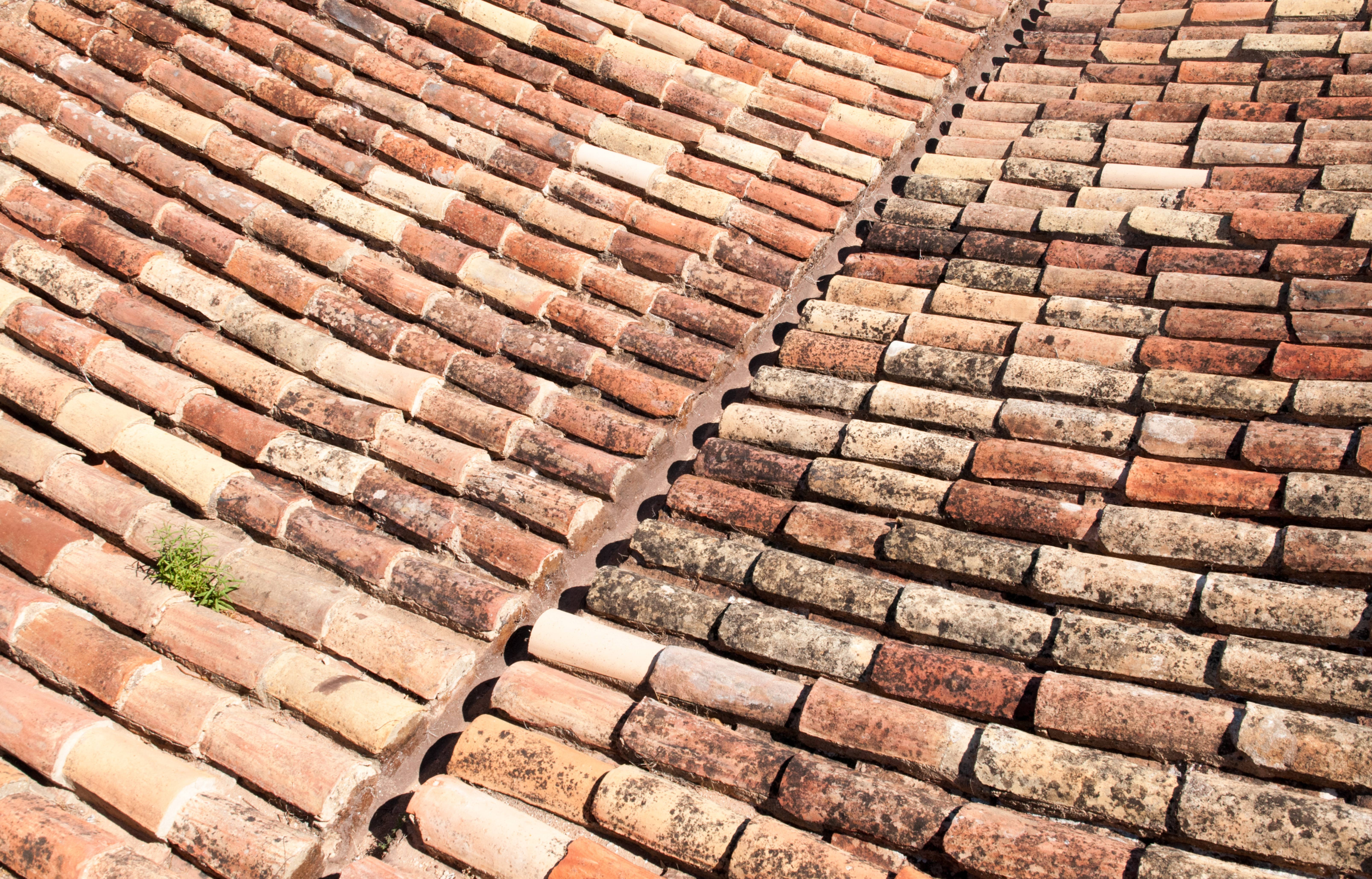 Ancient Roof Tiles Pattern