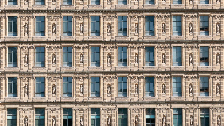 Apartments windows in Paris architecture
