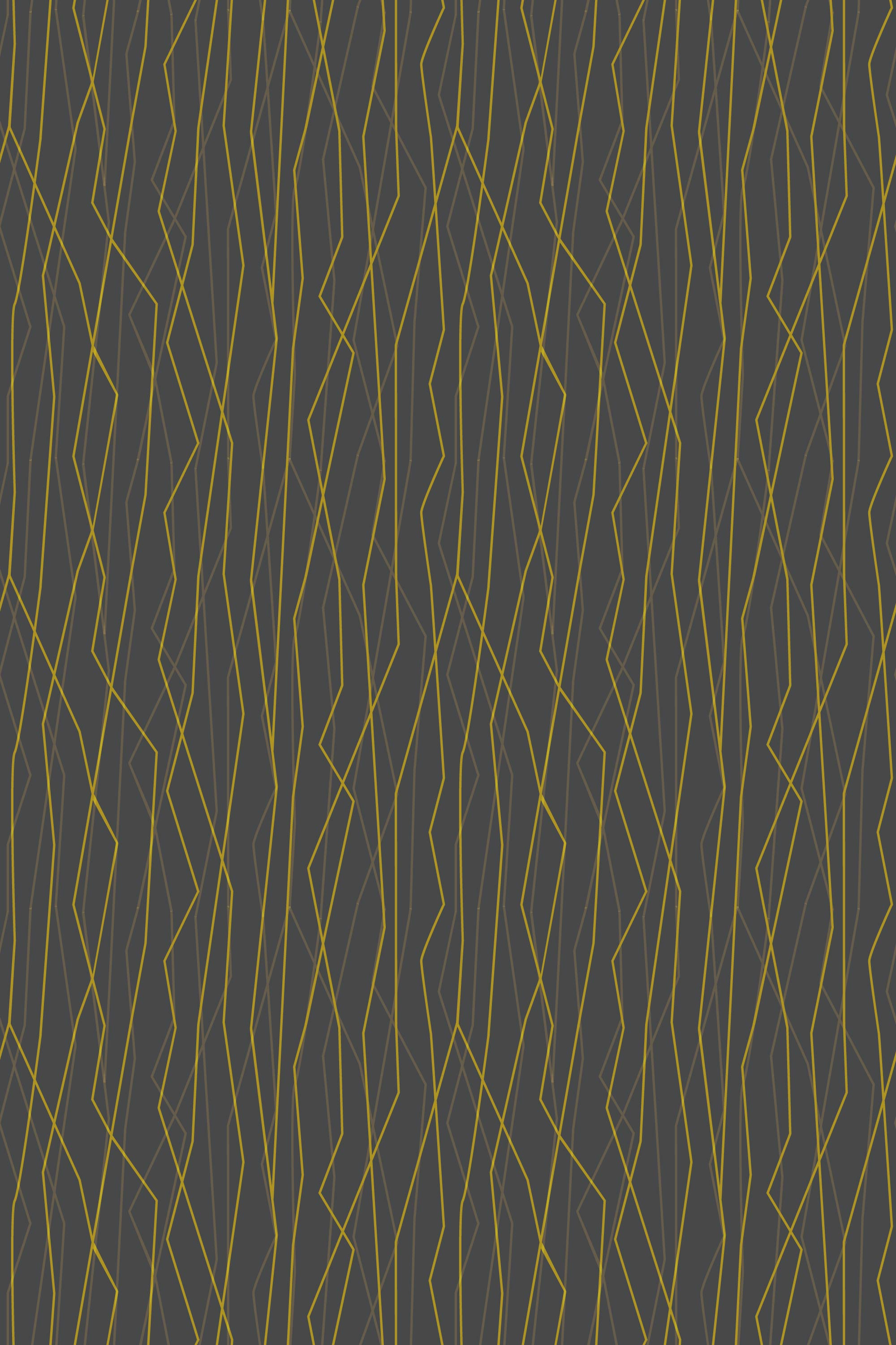 Black and gold wires organic background pattern
