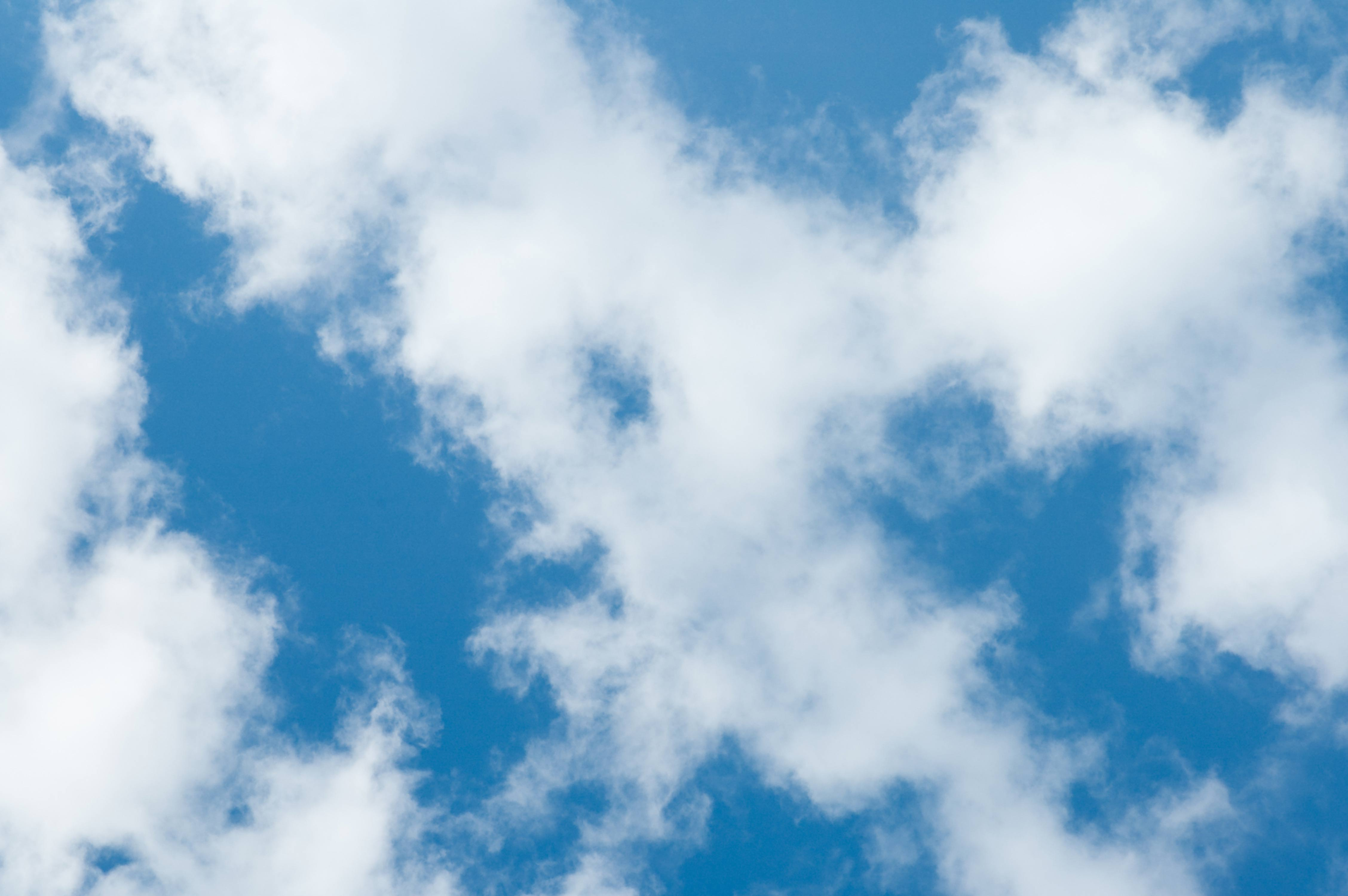 Blue Sky and Clouds Pattern