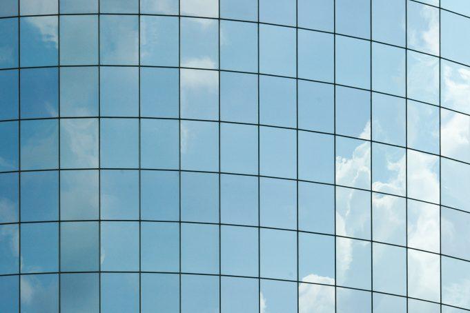 Blue Skyscraper Windows