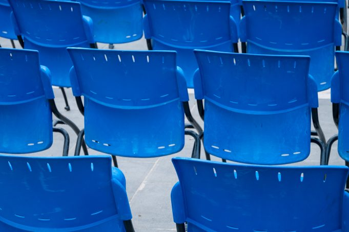 Blue chairs pattern free photo