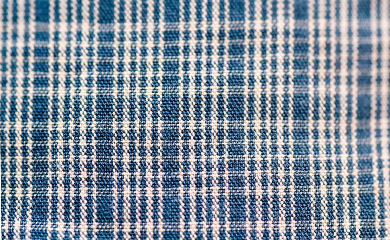 Blue white plaid kitchen towel pattern