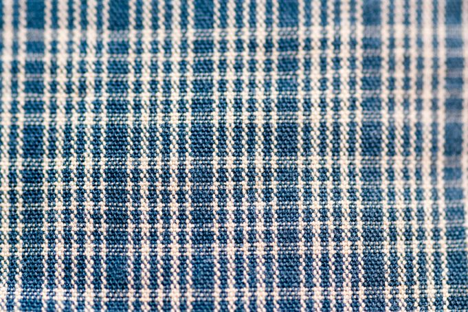 Blue white plaid kitchen towel pattern