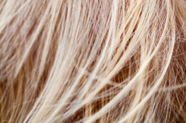 Bokeh blond hair texture