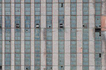 Bricks and Glass Wall Grunge Pattern Abandoned Factory
