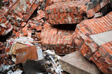 Bricks and debris