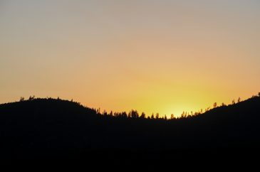 Bright Yellow Yosemite Sunset