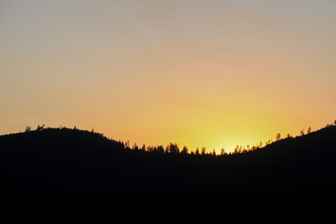Bright Yellow Yosemite Sunset
