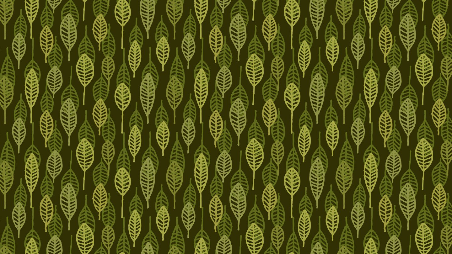Camouflage leaves outline drawing pattern