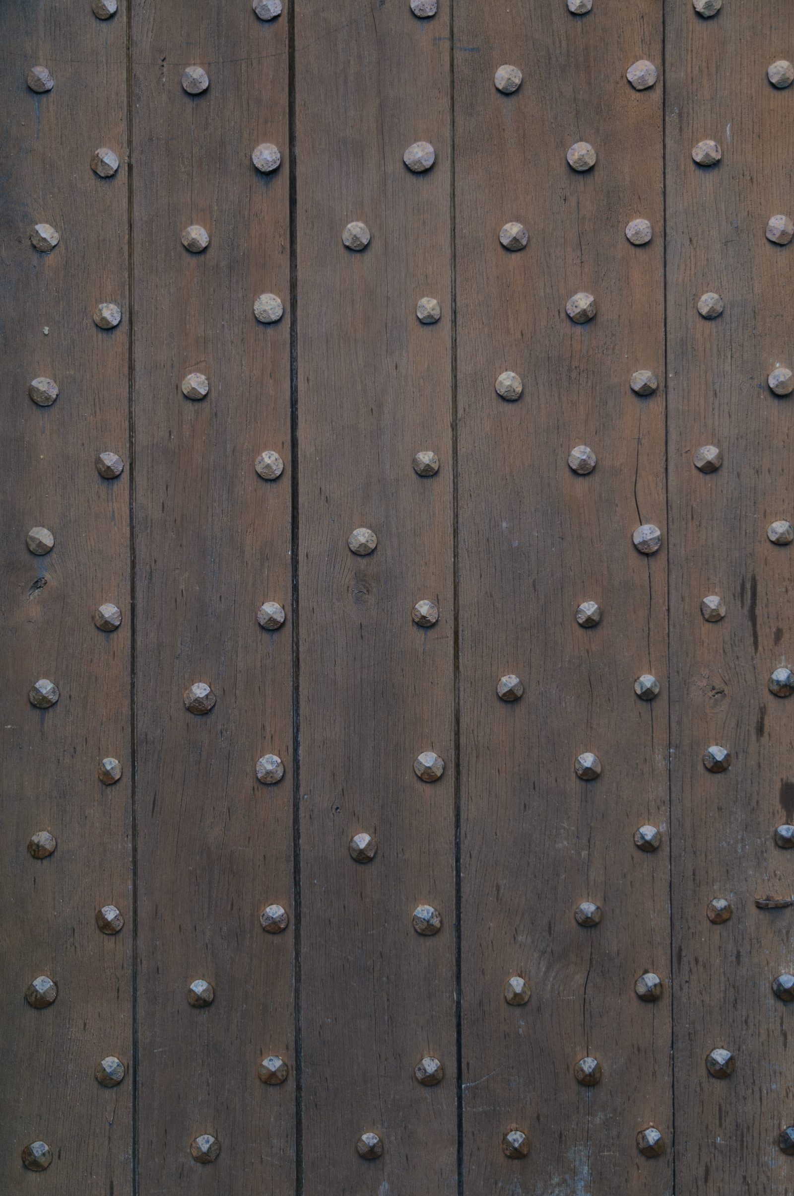castle wood door iron nails
