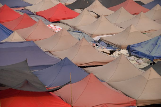 Chinese Market Tent Roofs Pattern