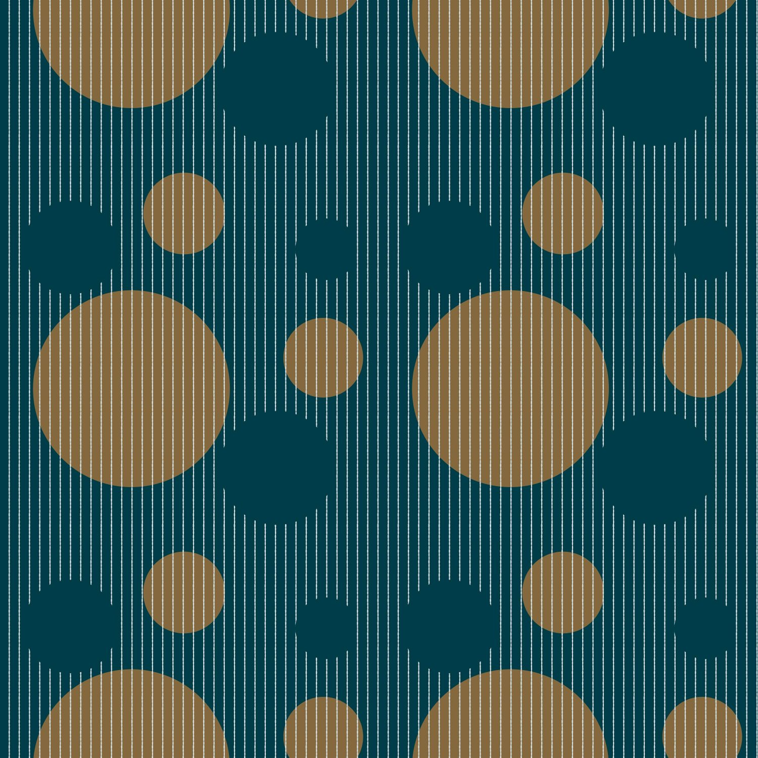 Circles peacock green gold wired background pattern