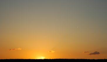 Clear Sky Early Morning Sunrise