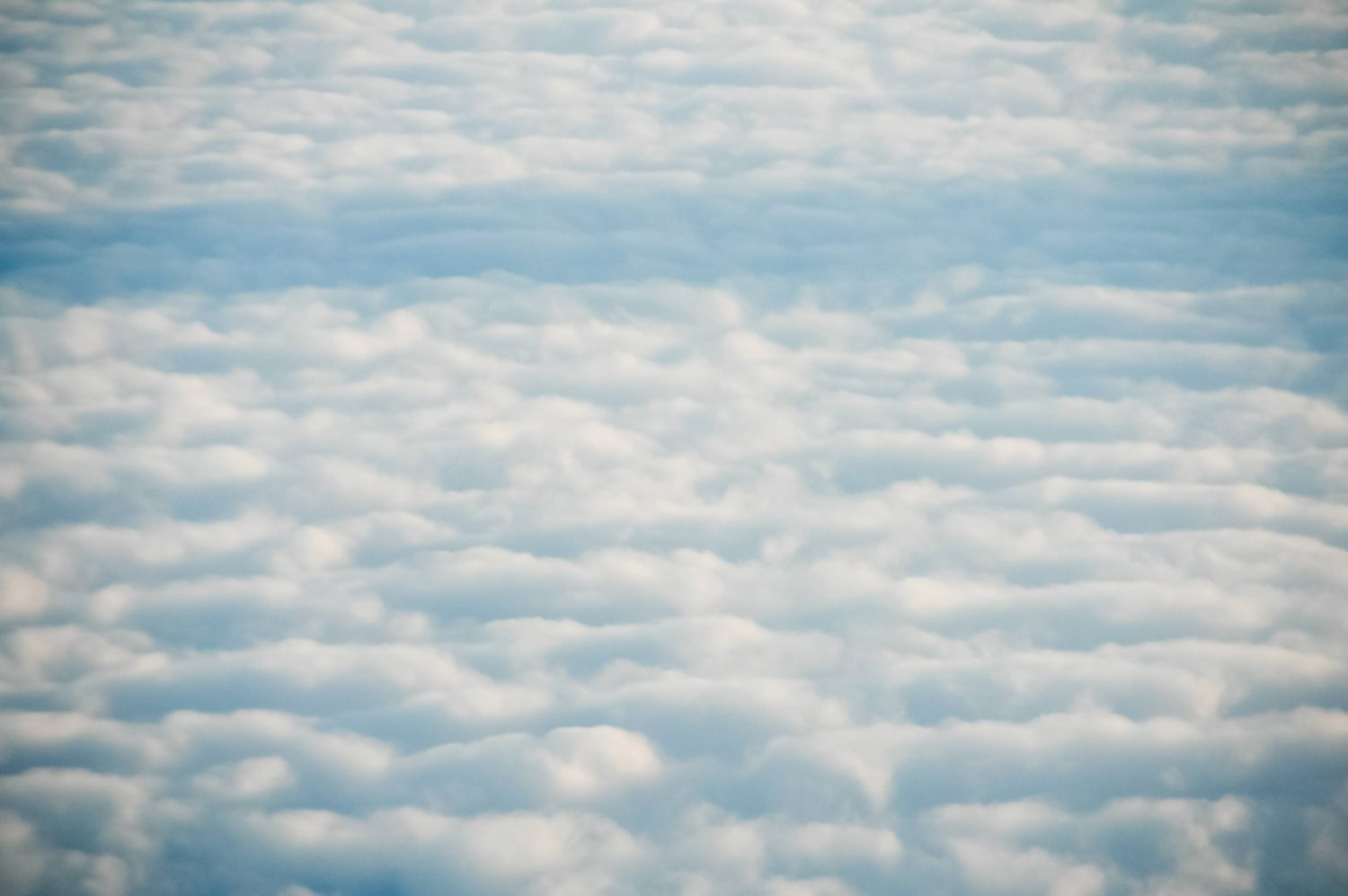 Cloudy sky seen from above