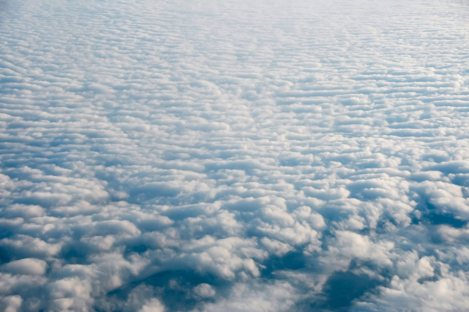 Cloudy sky viewed from above