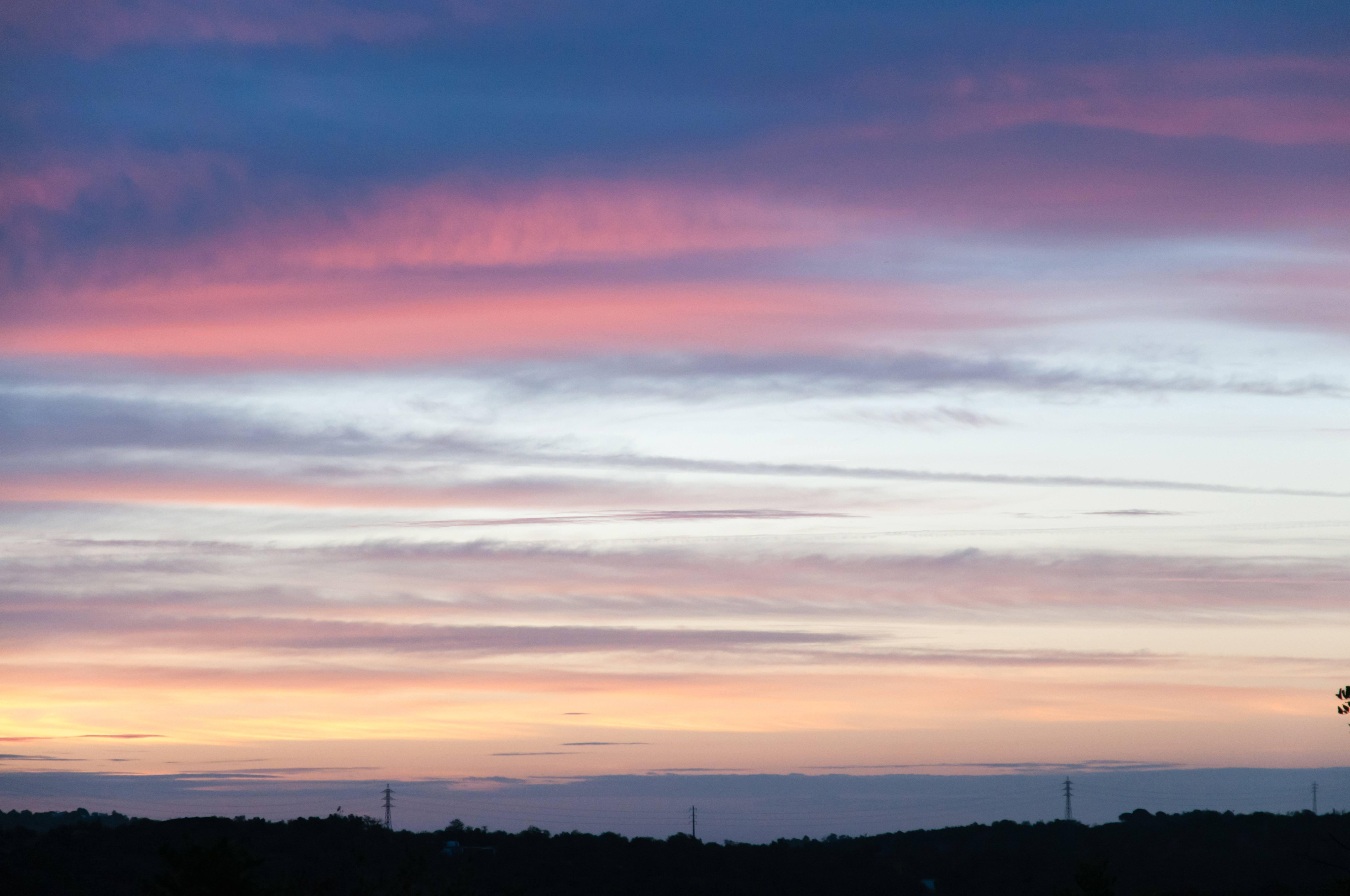 Colourfull sky cloudy sunset
