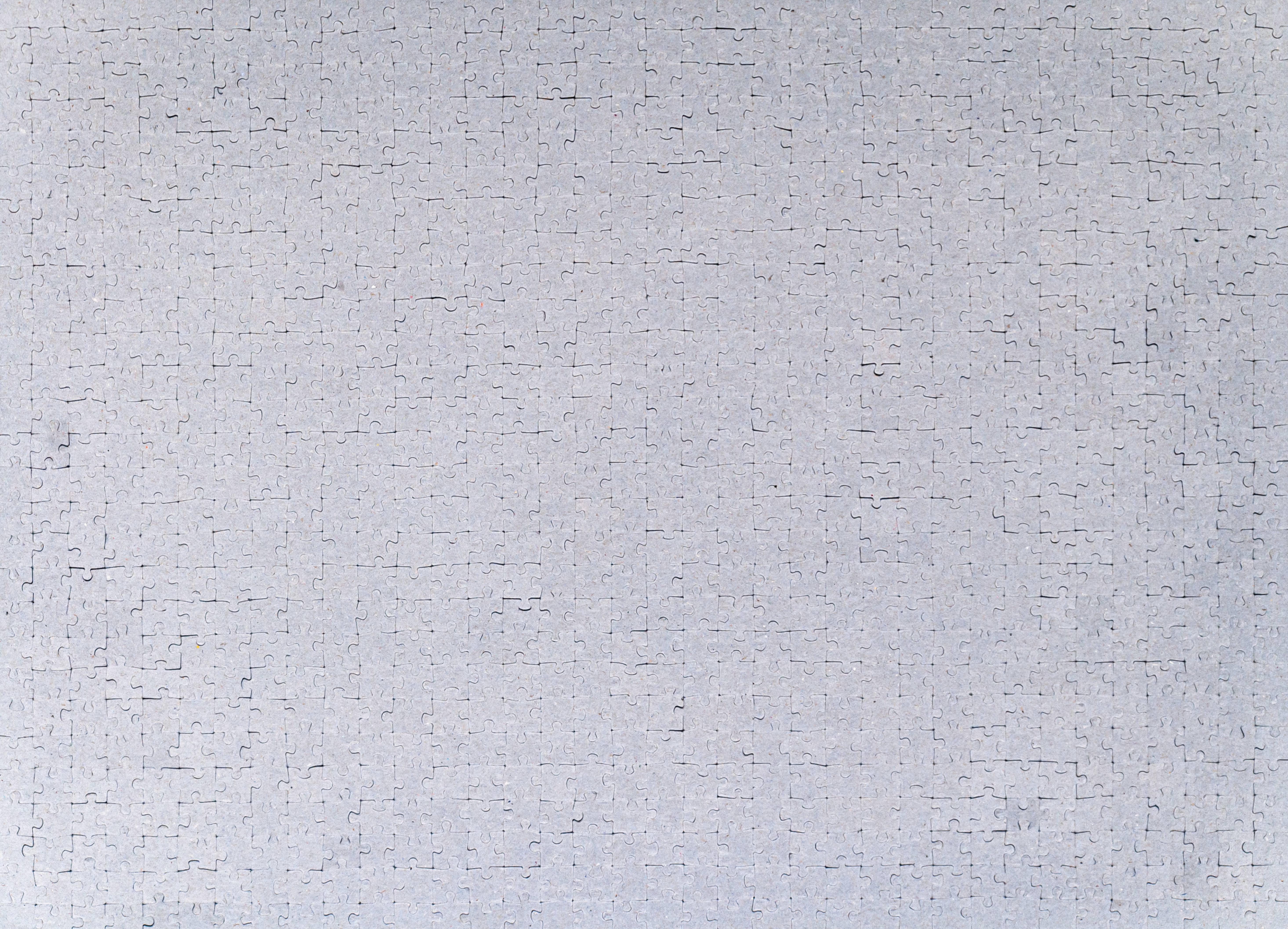 Complete puzzle blank backside cardboard cutout pattern