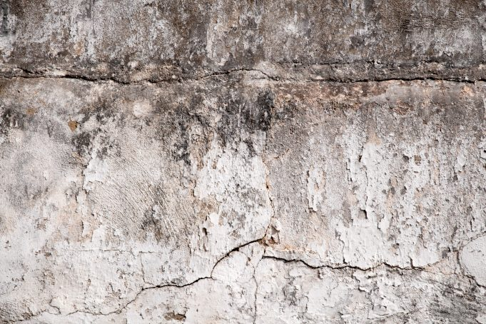 Cracks on the old concrete wall