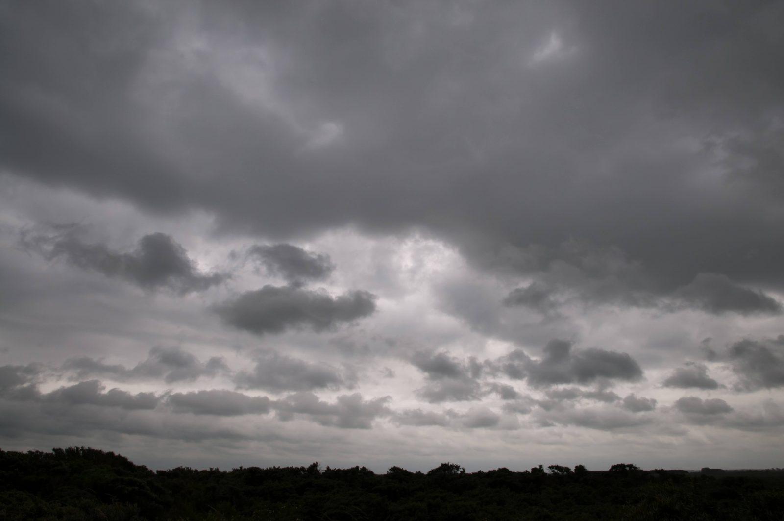 Dark grey clouds