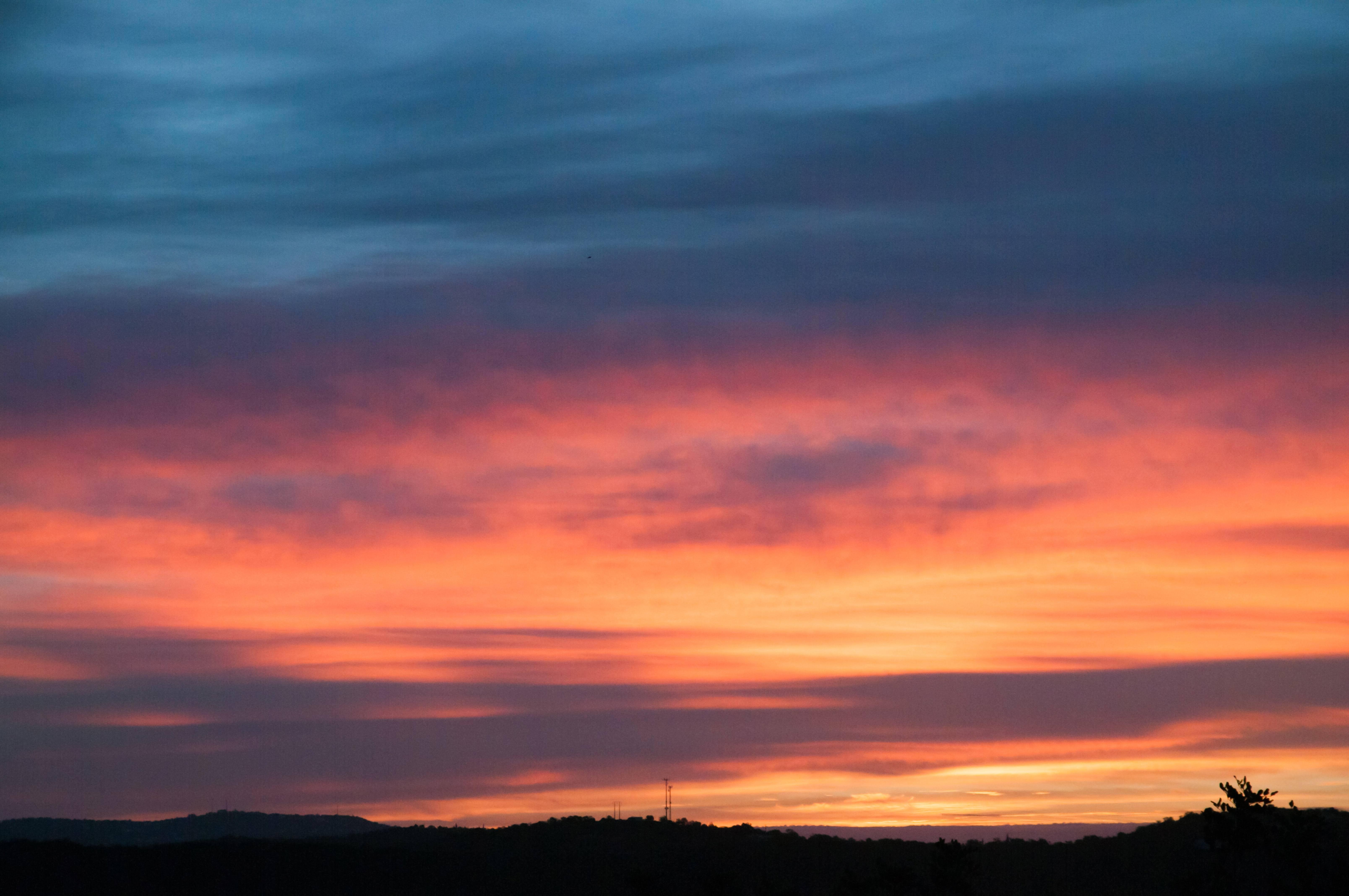 Dark sunset clouds