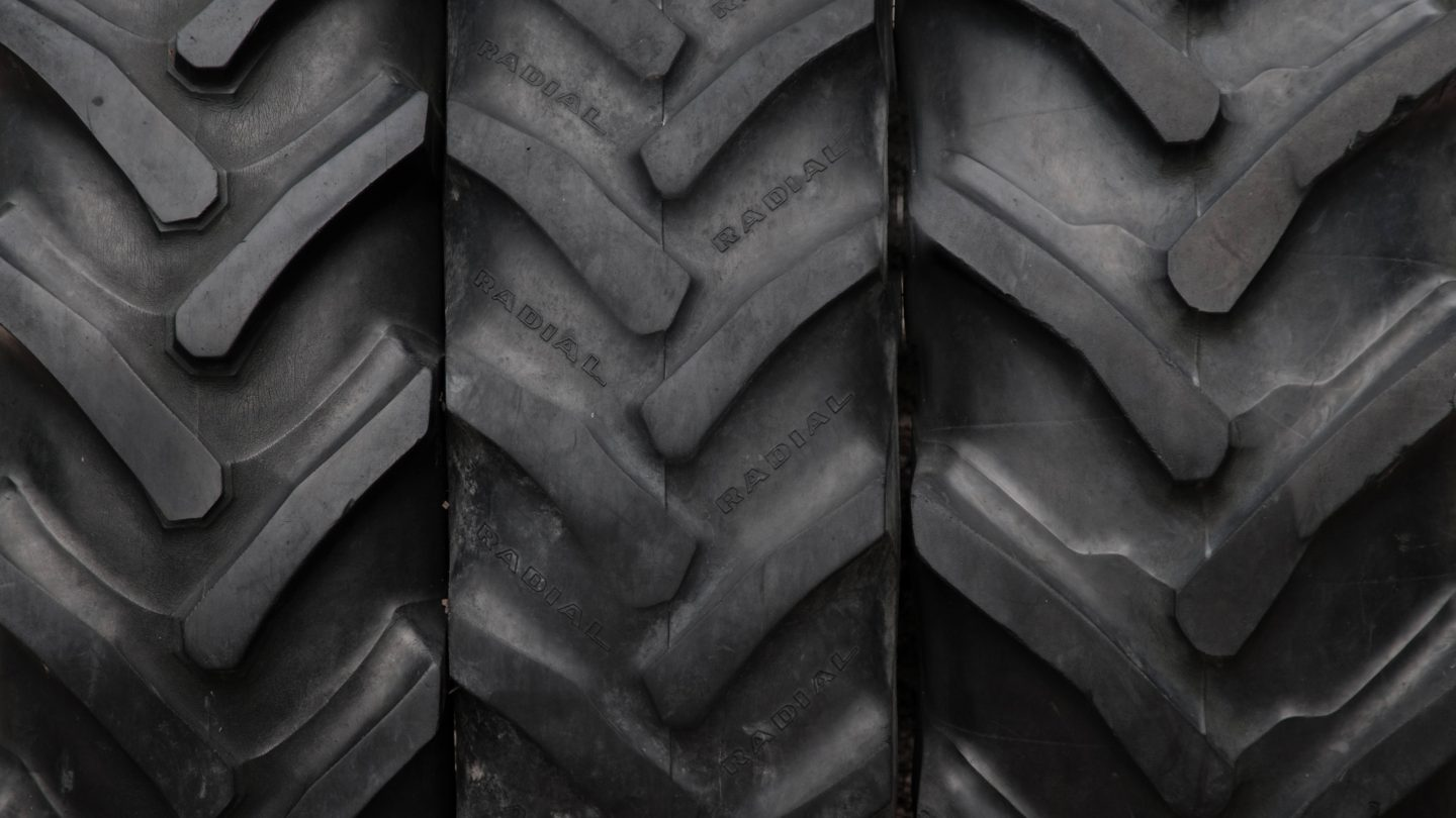 Detailed texture and pattern tractor tires background