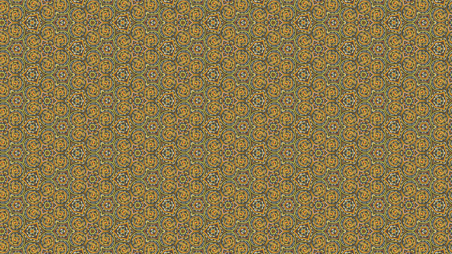 Dotted-Striped Circular Multi Colored Seamless Pattern