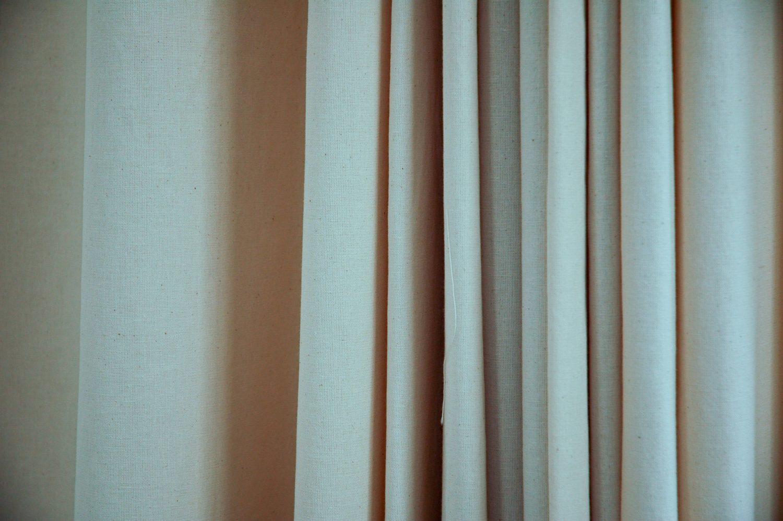 Draped Canvas Light Fabric Curtain