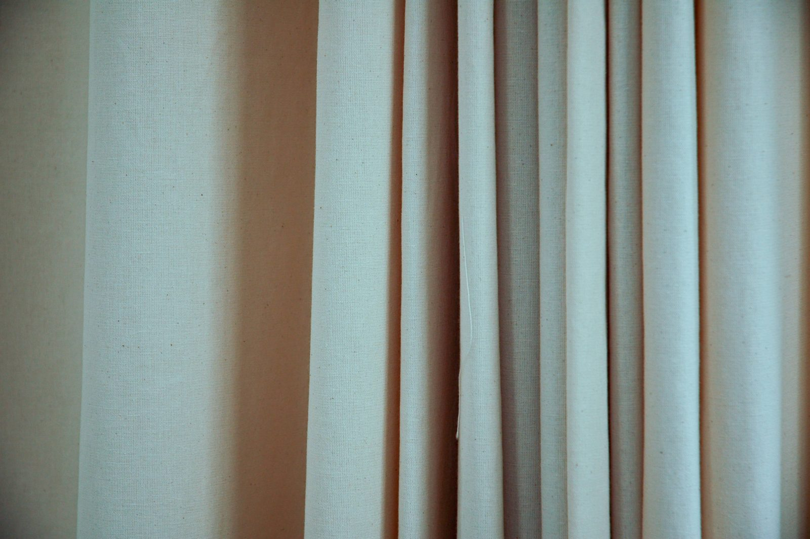 Draped Canvas Light Fabric Curtain
