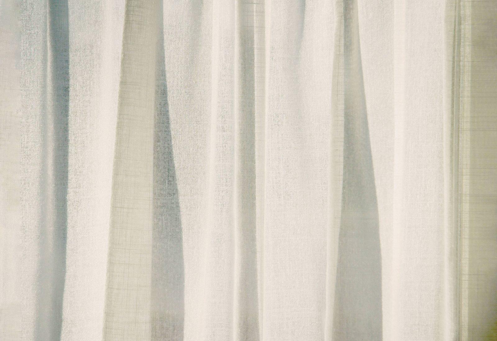 Draped Sunlit Canvas Curtain