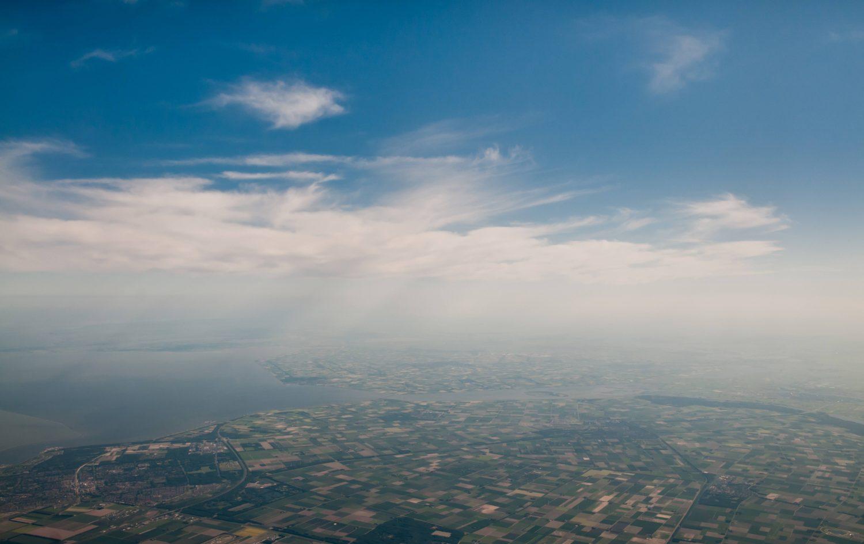 Dutch aerial sky photo