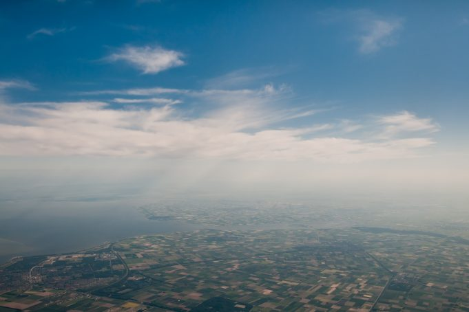 Dutch aerial sky photo