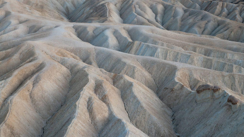Eroded Ridges At Zabriskie Point Death Valley National Park Cali