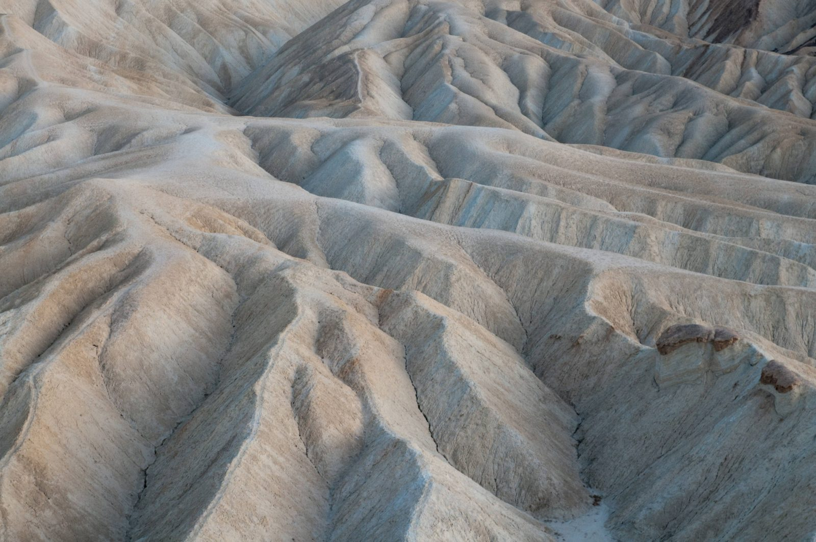Eroded Ridges At Zabriskie Point Death Valley National Park Cali