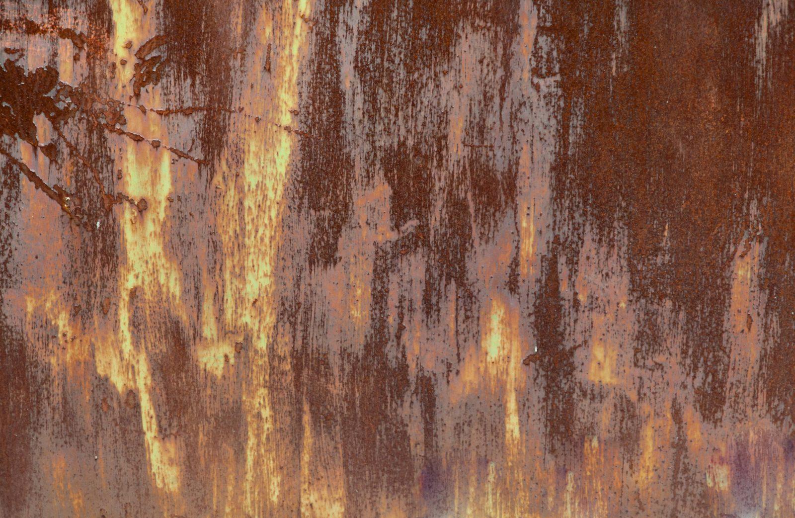 Eroded Rusty Metal Door