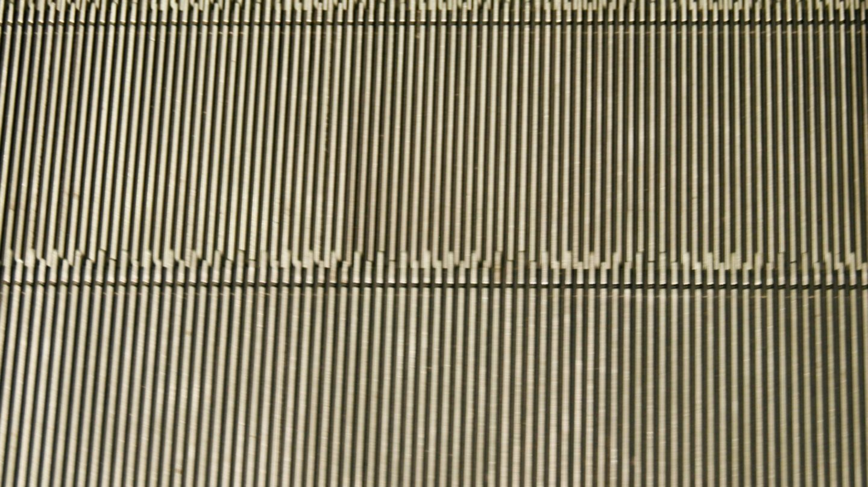 Escalator stairs close-up