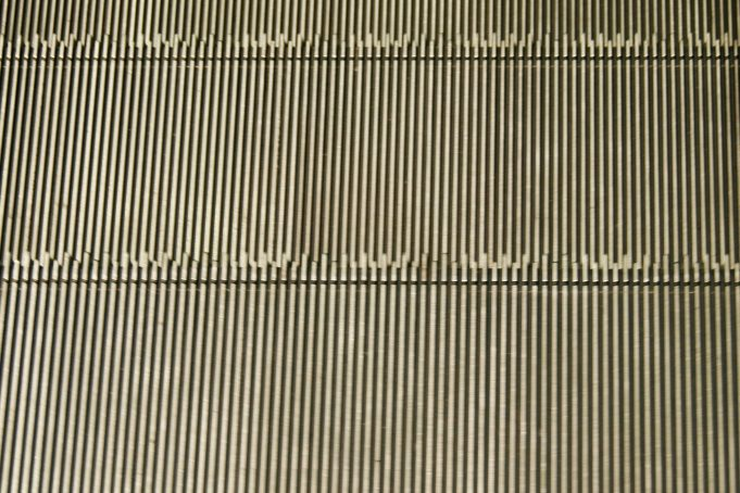 Escalator stairs close-up