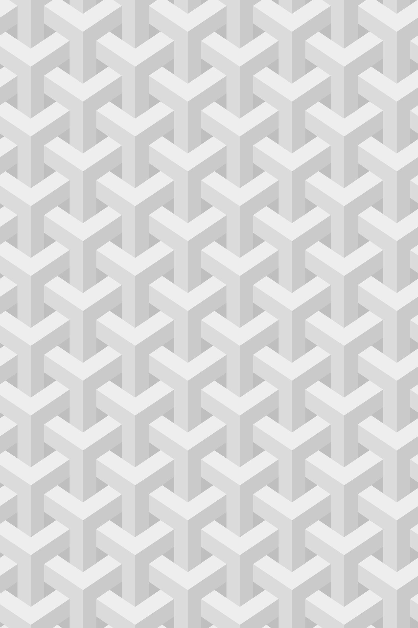 Escher inspired stacking cubes subtle white seamless pattern wallpaper