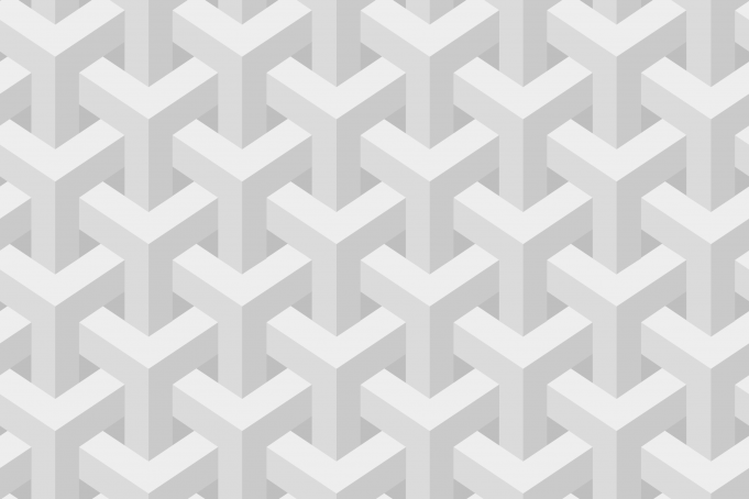 Escher inspired stacking cubes subtle white seamless pattern wallpaper