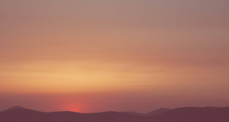 Evening warm sunset skyline