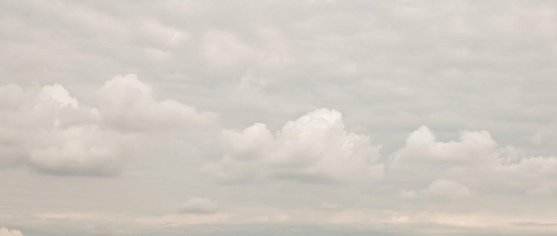 Extreme light subtle cloud covered sky