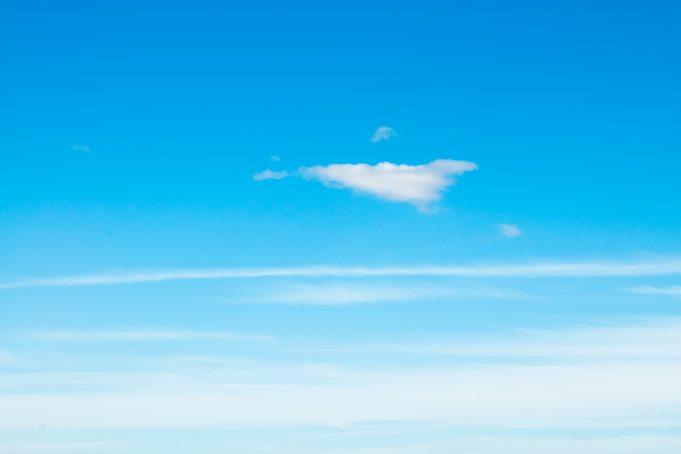 Extreme light blue sky