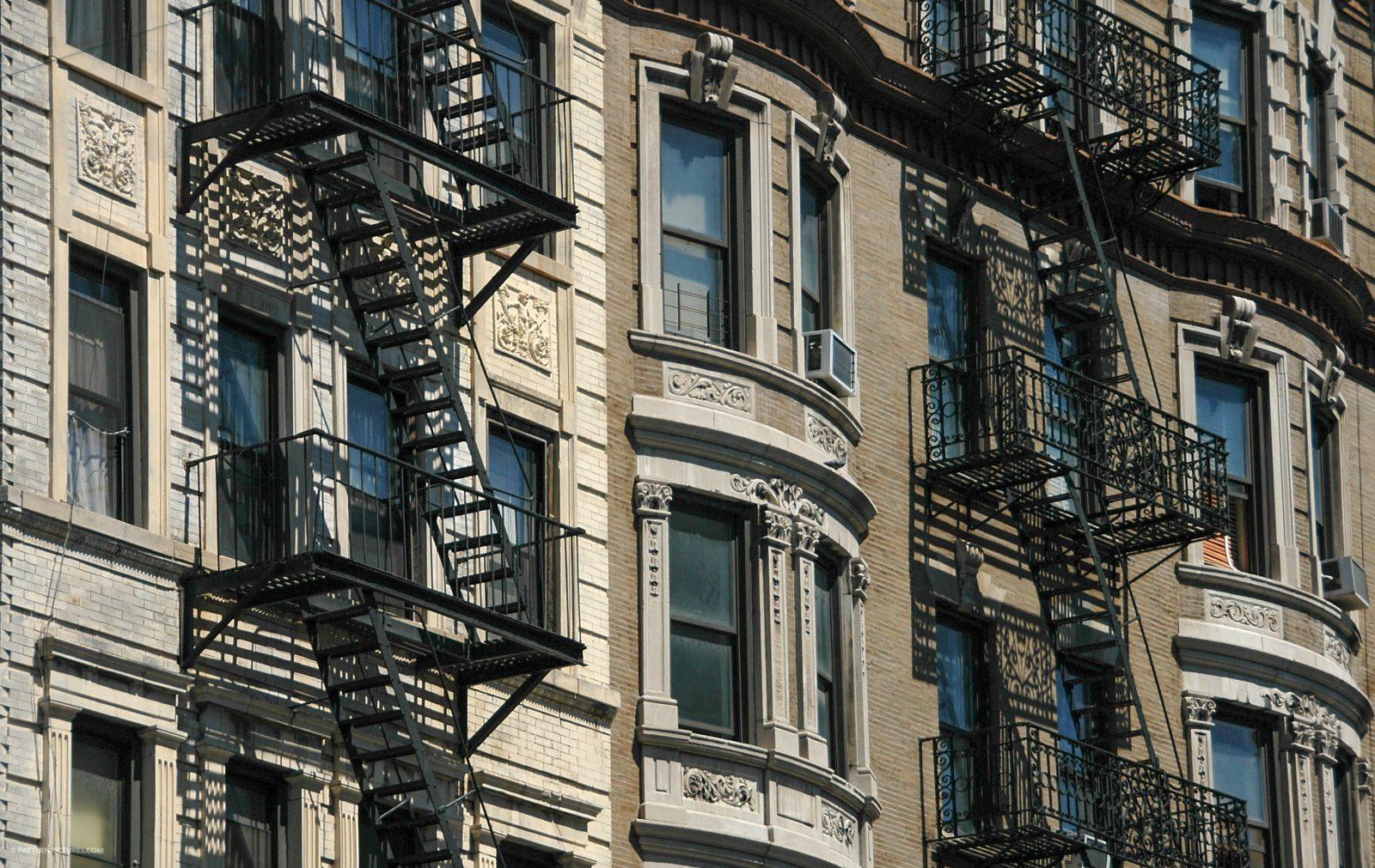 Facade of a New-York apartment