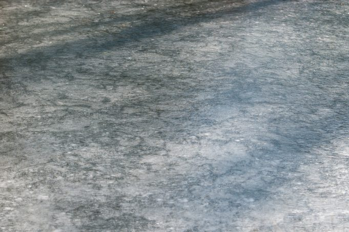 Frozen water stream background