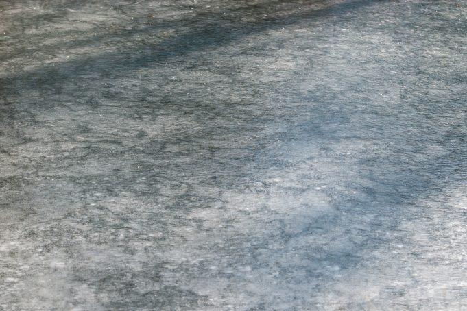 Frozen water stream background