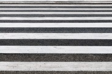 Full frame zebra pedestrian road crossing area