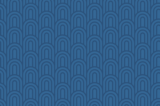 Geometric pattern blue waves